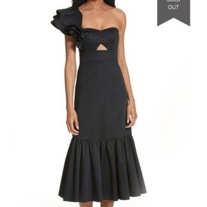 Rebecca Taylor - Ruffled One-Shoulder Midi Dress